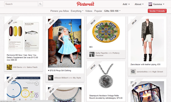 Pinterest by Price